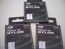 30 x Barbless Hooks To Nylon. Size 14 to 3lb Line.Ideal for Commercial Fisheries