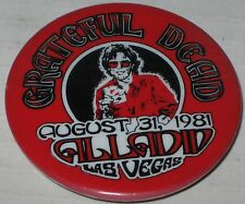 Grateful Dead Aladdin Theater Las Vegas Aug 31 1981 Concert Pin #1 2 1/8""