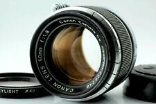 【EXC+++++】Canon 50mm F1.8 Lens For LEICA Screw Mount LTM L39 W/ Cap,Filter JAPAN