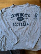 Mens Dallas Cowboys Nfl Gray Thermal L/S Shirt Size M Authentic Apparel