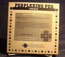 Vintage Perplexing Peg Puzzle by Skor-mor