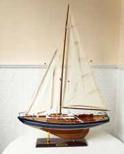 Modellschiff Segelyacht Yacht Holz Schiff Boot Segelboot Maritim kein Bausatz