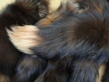 #1 Quality XXL Tanned Brown/Orange Dye Blue Frost Fox Tails/Crafts/Real USA Tail