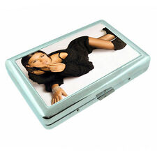 Italian Pin Up Girls D4 Silver Metal Cigarette Case RFID Protection Wallet