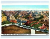 Postcard View from El Tovar Hotel, Grand Canyon National Park AZ 1940 B26