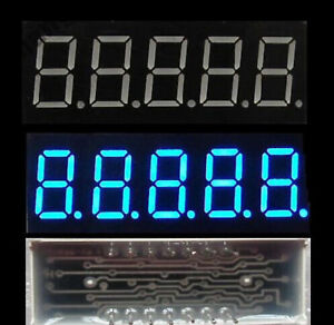 1/2Pcs Blue 5 digit 0.36 inch led display 7 segment common cathode Digital Tube