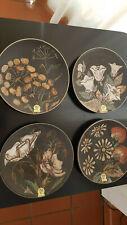 Ruscha Art Wandteller Keramik Teller 28 cm / 50-er 60-er Jahre vintage Flower
