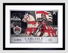 TRAVEL CARLISLE KNIGHT CASTLE HORSE GATEWAY SCOTLAND UK BRITISH PRINT B12X2933