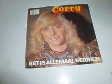 """CORRY - Het Is Allemaal Gelogen - 1982 Dutch 2-track 7"""" Juke Box Vinyl Single"""