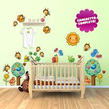 R00027 Wall Stickers Sticker Adesivi Murali Bambini Apette laboriose 58x70 cm
