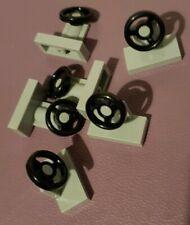 6 x GENUINE LEGO steering wheel Light grey * part 4226995  *