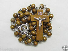 "† ""TO BE BLESSED"" 50% OFF SALE SIMPLE ""HALO STYLE"" CENTERPIECE WOODED ROSARY †"
