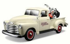 CHEVROLET 3100 PICK-UP with HARLEY DAVIDSON bike 1:25 Car Model Diecast Toy