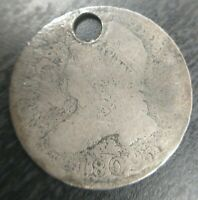 1809 Capped Bust Dime 10c Circulated Key Date Holed Cheapest!