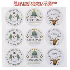 90pcs Handmade Christmas Envelope Seal Sticker Gift Label Stickers Decorations