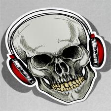 Crâne Avec Rouge Casque Tattoo Hu Vinyle Sticker Autocollant Fenêtre Voiture Van Vélo 3080
