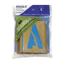 Large Alphabet Stencils Letters 4