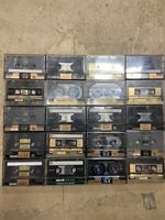 20 Mixed LOT MAXELL XL II XL II-S Audio Cassettes Tapes pre-rec for Blank