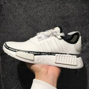 Adidas Women's NMD R1 Boost Running Sneakers Tape White Black Multiple Sizes