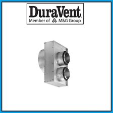 """DURAVENT 4"""" x 6 5/8"""" DirectVent Pro Co-Axial to Co-Linear Connector #46DVA-GCL"""