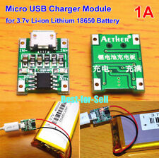 5V 1A Micro USB Lithium Battery Charging Module Lipo Charger Board for Arduino