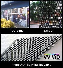 "Perforated mesh adhesive printing vinyl 10ft x 54"" VVIVID XPO window film decal"