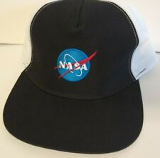NASA Meatball Hat Cap Back White Mesh Trucker Snap Back One Size NWT Neon Riot