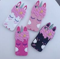For Iphone 5/5S/5SE 3D Cute Cartoon Unicorn Rubber Silicone Case Cover