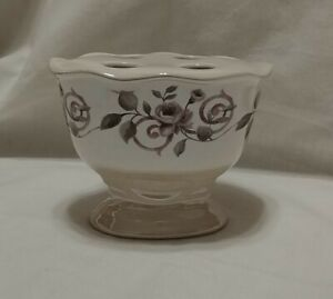 "Croscill Chambord Cassis Ceramic Toothbrush Holder Amethyst Purple Floral 3-3/4"""