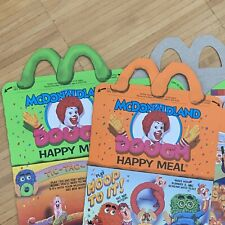 McDonalds Happy Meal Box Set 1990 DOUGH Regional Fast Food Collector