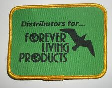 "Distributors for Forever Living Products Green Yellow Sew-On Patch 4"" x 3"""