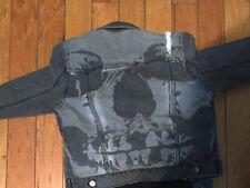 NWT Iron Fist Women's Gray Size L Denim Jacket Skull Print