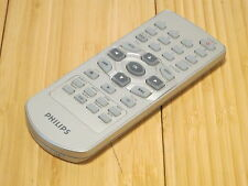 Philips DVD Player Remote Control Silver Small No Model Number Tested & Working