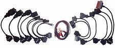 PKW OBD2 Diagnose Adapter 14 Teilig für VW BMW Fiat MB OPEL PSA Mazda Kabelset