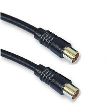 10M long RF Câble coaxial câble d'antenne TV mâle à m BLINDÉ RG59 Premium