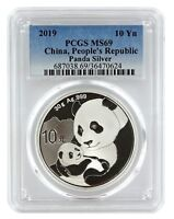 2019 China 10 Yuan Silver Panda PCGS MS69 - Blue Label