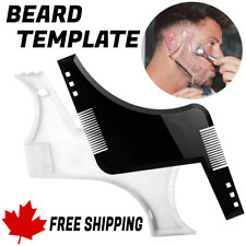 Gentlemen Style Beard Trim Template Men Modelling Tools Shaping Hairbrush Comb