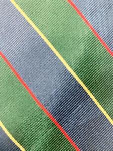 346 BROOKS BROTHERS GREEN DARKBLUE RED STRIPE SILK NECKTIE TIE MMA1121A #R22