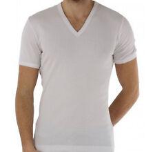Dolce & Gabbana T-shirt collo R  cotone costine stretch bianco D&G € 100 XL