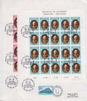 Guernsey FDC 204, 205 2x Miniature Sheet 2 Fdc's With Sst 1980, First Day Cover