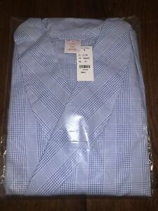 Brooks Brothers Blue Check Dressing Gown BRAND NEW RRP £115 Gingham pattern