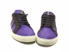 Bally Mens Shoes size 12 Purple Calf Skin Leather GORGEOUS! MINT! ULTRA RARE!
