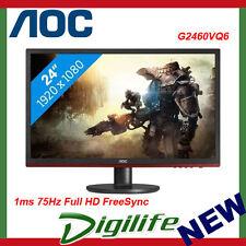 "AOC G2460VQ6 24"" LED LCD Gaming Monitor 1MS FHD VGA HDMI DP Speaker FreeSync"