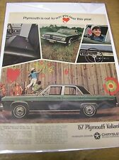 Original 1967 Plymouth Valiant Magazine Ad - ...Out to Win You Over This Year