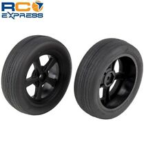 Associated DR10 Front Wheels and Drag Tires mounted ASC71073