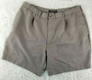 The Havanera Co. light brown casual golf shorts SIZE 42 pleated front (T)