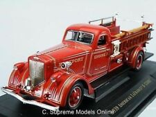AMERICAN LA FRANCE FIRE ENGINE 1939 1/43RD SIZE RED OPEN BACK ISSUE K8967Q~#~