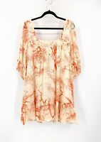 BNWT Sportsgirl Size 12 Silk/Velvet Detail Square Neck 3/4 Sleeve Party Dress
