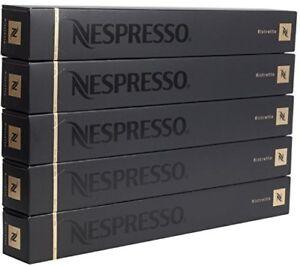 50 ORIGINAL NESPRESSO COFFEE CAPSULES PODS - RISTRETTO (Intensity: 10)