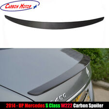 AMG Style Carbon Rear Spoiler Trunk Wing for 14+ Mercedes W222 S400 S500 S63 AMG